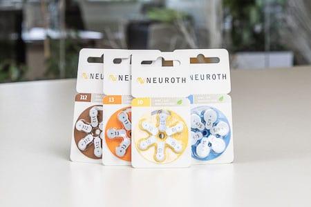 Baterije za slušne aparate Neuroth v embalaži
